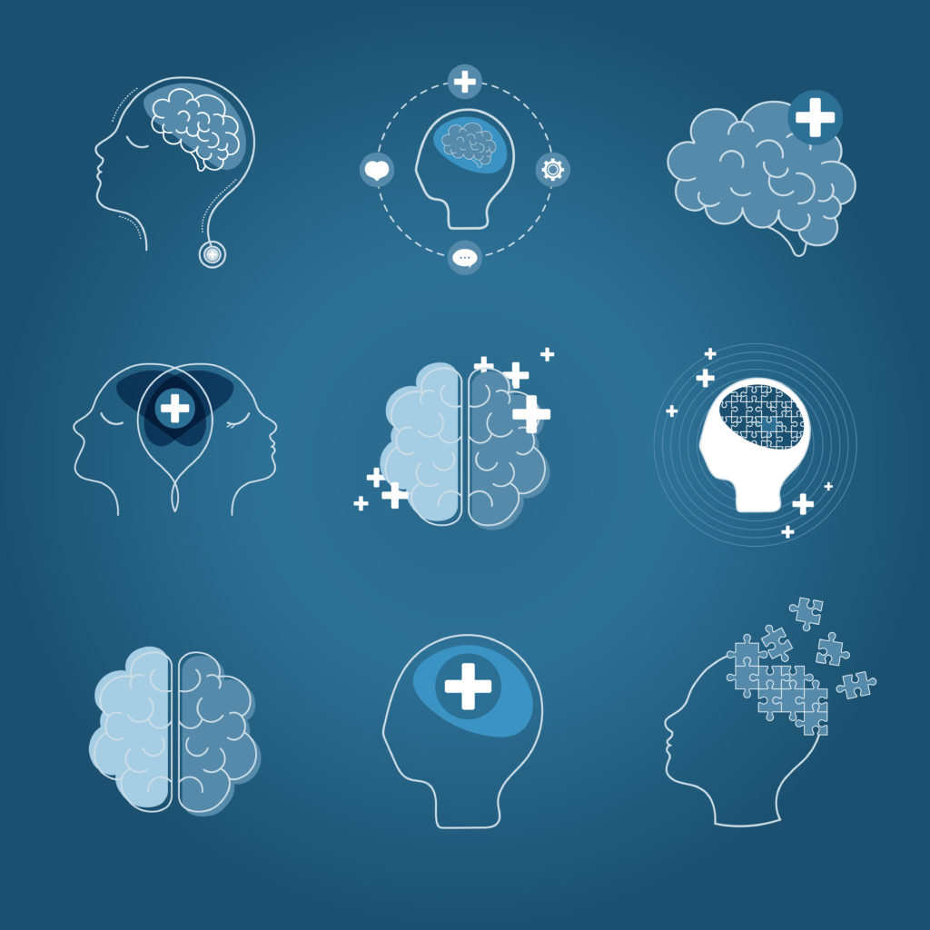 Brain and Mental Health Icons